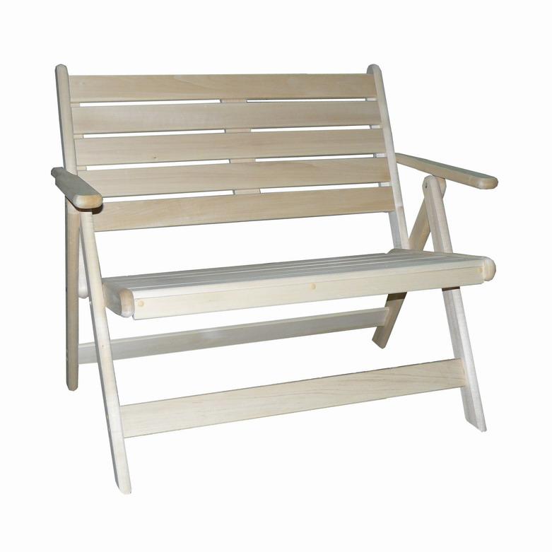 Скамейка с подлокотниками раскладная